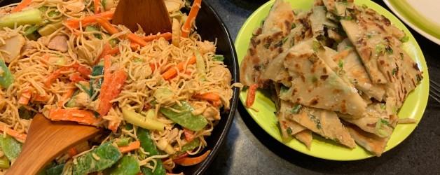 Peanut Noodle Salad… Really an Excuse to Make Scallion Pancakes!